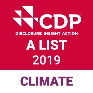 CDP's Climate  Security A List Award