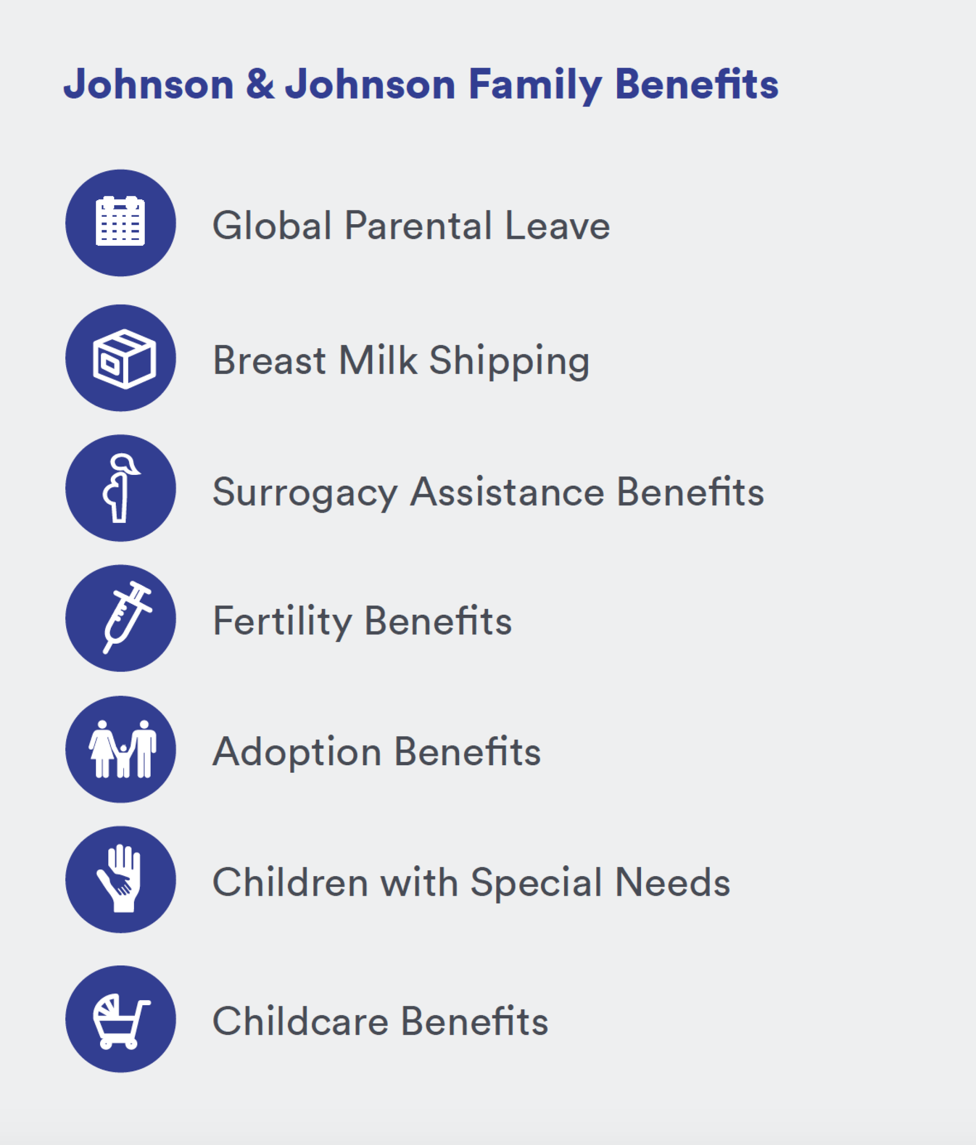 Johnson & Johnson Family Benefits