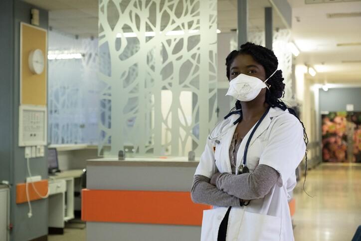 Front line healthcare worker