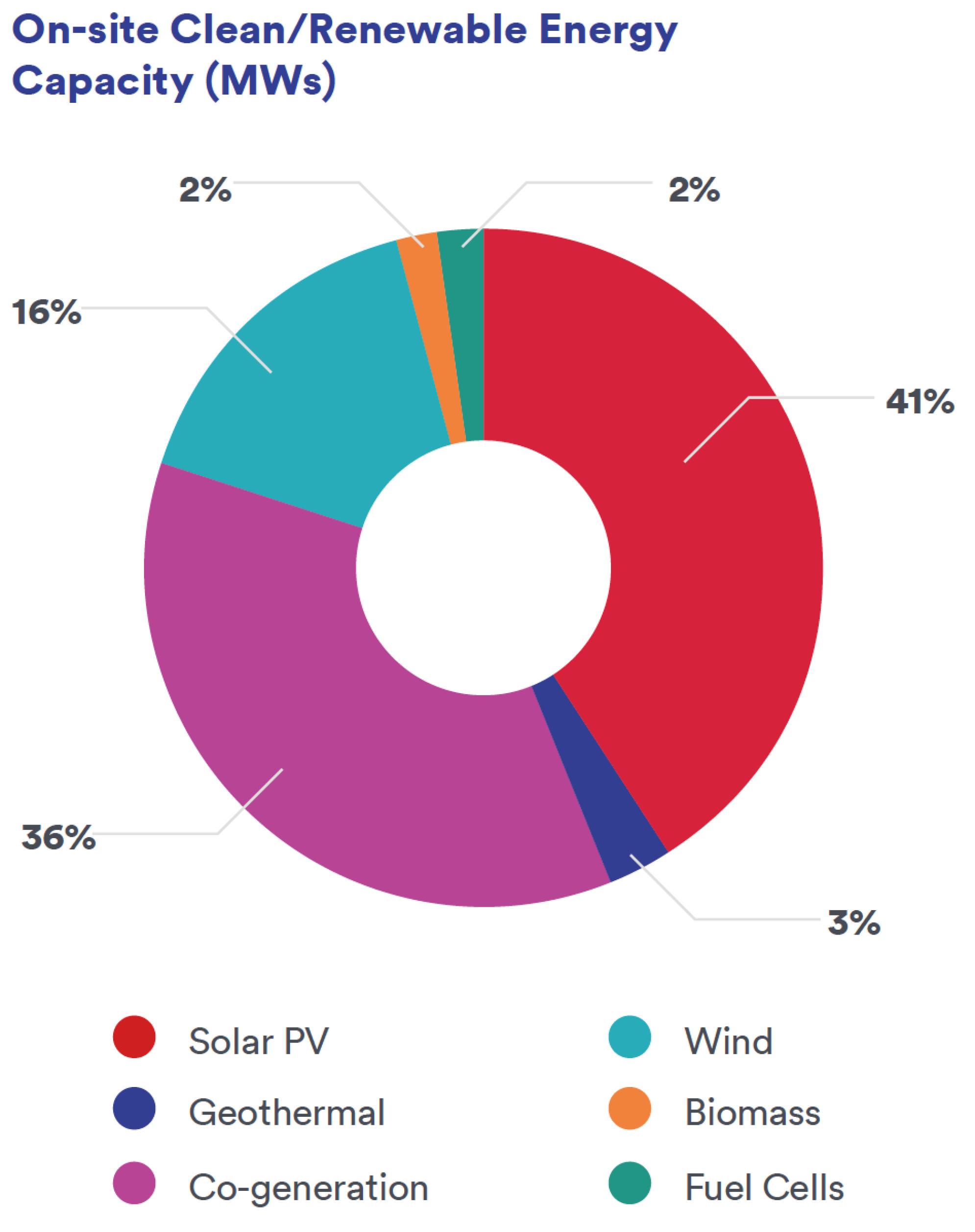 On-site Clean/Renewable Energy Capacity (MWs)