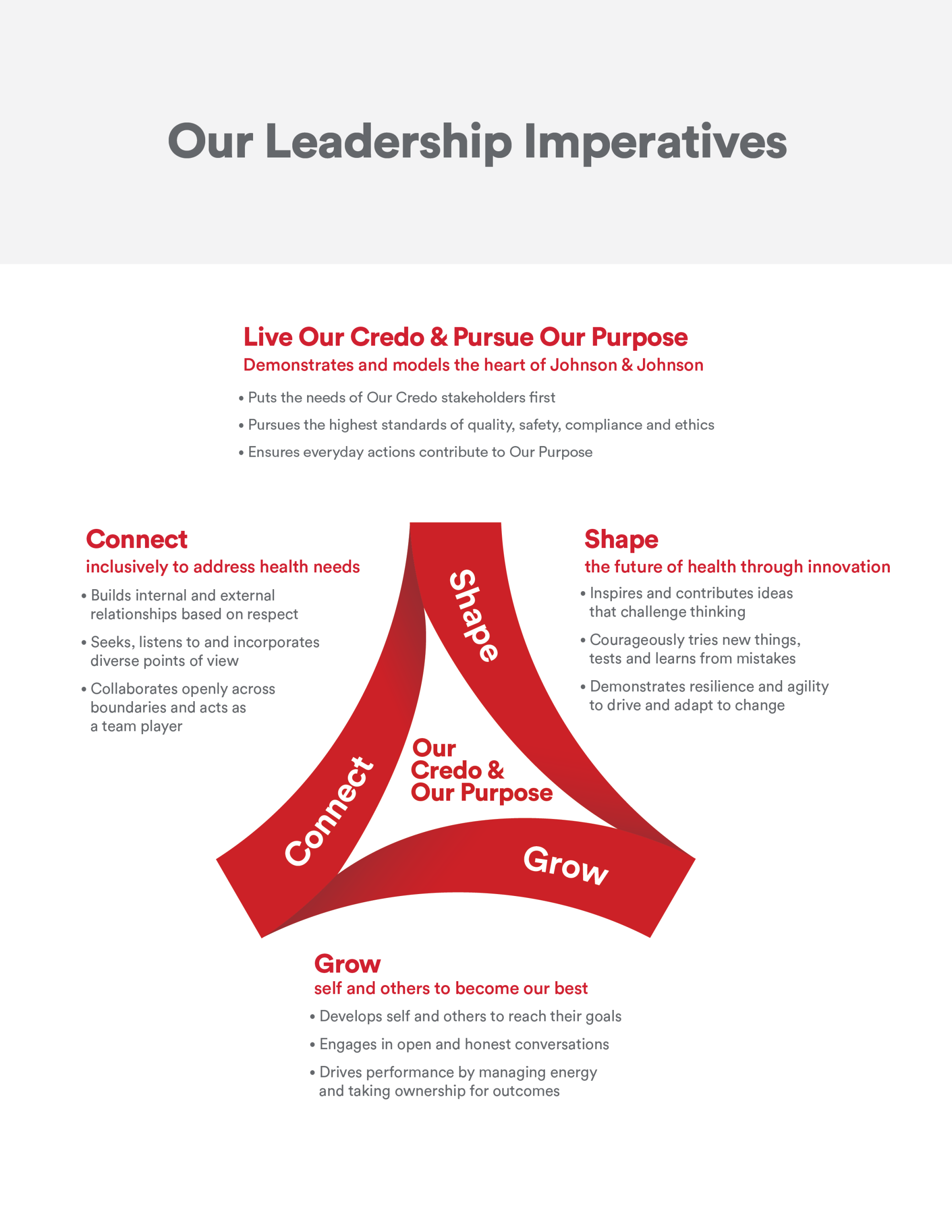 Leadership Credo Diagram