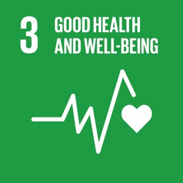 SDG Commitment Progress Icon that says Good Health and Well Being